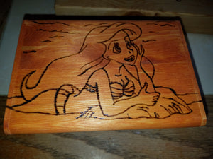 The Little Mermaid Box - Odin's Eye Art, Pyrography - woodburning, Odin's Eye Art - Odin's Eye Art