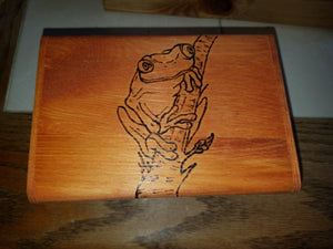 Tree Frog box - Odin's Eye Art, Pyrography - woodburning, Odin's Eye Art - Odin's Eye Art