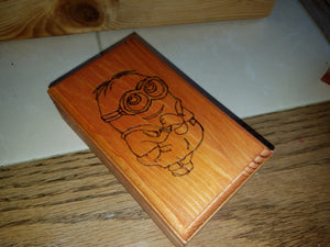 Minion box - Odin's Eye Art, Pyrography - woodburning, Odin's Eye Art - Odin's Eye Art