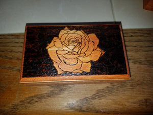 Rose box - Odin's Eye Art, Pyrography - woodburning, Odin's Eye Art - Odin's Eye Art