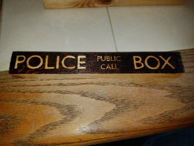Police Box - Doctor Who - Odin's Eye Art, Pyrography - woodburning, Odin's Eye Art - Odin's Eye Art