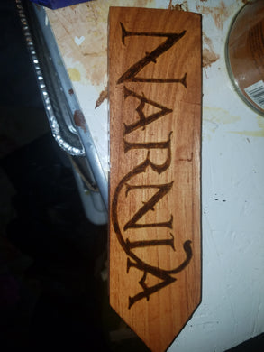 Narnia sign - Odin's Eye Art, Pyrography - woodburning, Odin's Eye Art - Odin's Eye Art