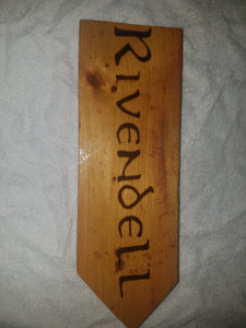 Rivendell sign - Odin's Eye Art,  - woodburning, Odin's Eye Art - Odin's Eye Art
