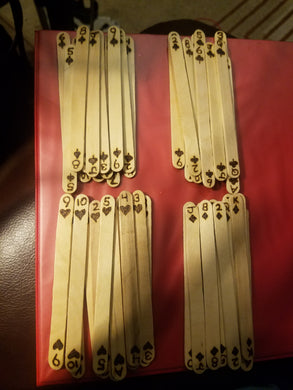 Popsicle playing sticks - Odin's Eye Art,  - woodburning, Odin's Eye Art - Odin's Eye Art