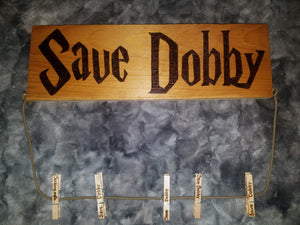 Save Dobby lost sock line - Odin's Eye Art,  - woodburning, Odin's Eye Art - Odin's Eye Art