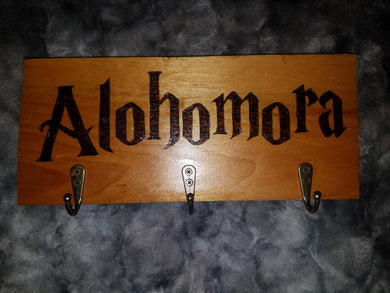 Alohomora key hook - Odin's Eye Art, Pyrography - woodburning, Odin's Eye Art - Odin's Eye Art