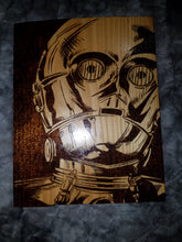 C3PO plaque - Odin's Eye Art, Pyrography - woodburning, Odin's Eye Art - Odin's Eye Art