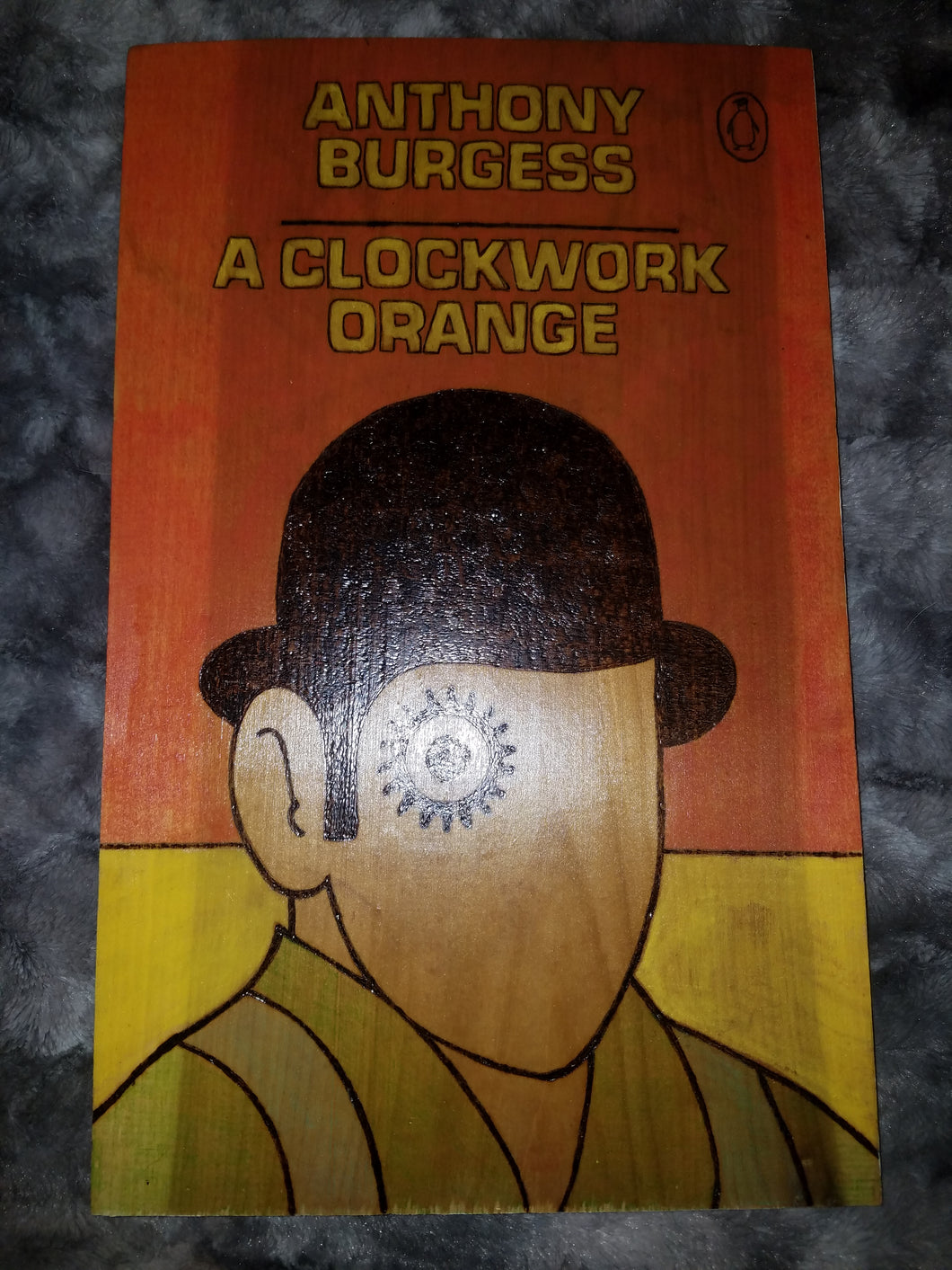A Clockwork Orange plaque - Odin's Eye Art, Pyrography - woodburning, Odin's Eye Art - Odin's Eye Art