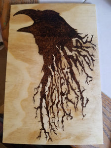 Raven - Odin's Eye Art,  - woodburning, Odin's Eye Art - Odin's Eye Art