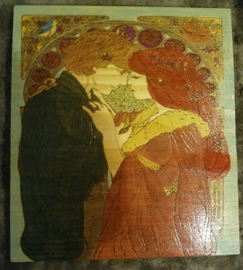 Medieval romance - Odin's Eye Art,  - woodburning, Odin's Eye Art - Odin's Eye Art