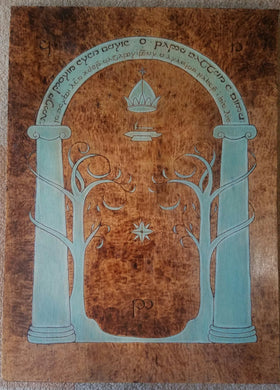 Door of Durin - Odin's Eye Art, Pyrography - woodburning, Odin's Eye Art - Odin's Eye Art