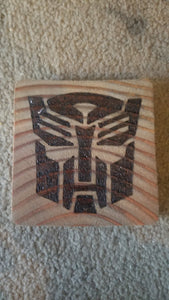 Coasters set of four - Odin's Eye Art, Pyrography - woodburning, Odin's Eye Art - Odin's Eye Art