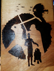Star Wars - Odin's Eye Art,  - woodburning, Odin's Eye Art - Odin's Eye Art