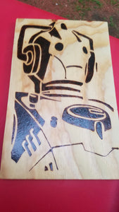 Cyberman - Odin's Eye Art, Pyrography - woodburning, Odin's Eye Art - Odin's Eye Art