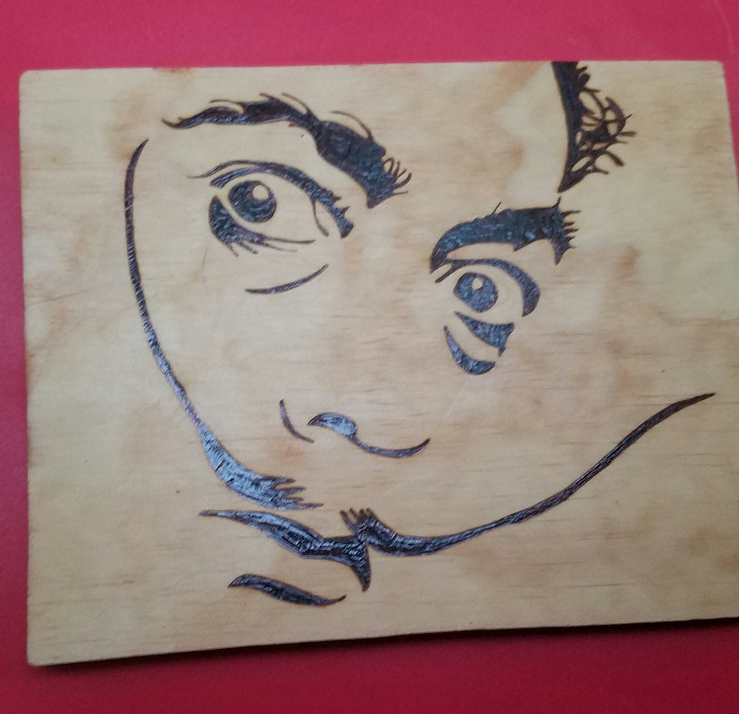Dali - Odin's Eye Art, Pyrography - woodburning, Odin's Eye Art - Odin's Eye Art