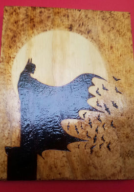 Batman - Odin's Eye Art, Pyrography - woodburning, Odin's Eye Art - Odin's Eye Art