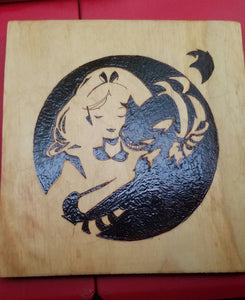 Alice in wonderland - Odin's Eye Art, Pyrography - woodburning, Odin's Eye Art - Odin's Eye Art
