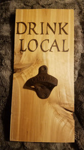 Drink local bottle openers - Odin's Eye Art, Pyrography - woodburning, Odin's Eye Art - Odin's Eye Art