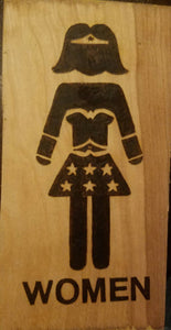 Wonder women and bat men signs - Odin's Eye Art,  - woodburning, Odin's Eye Art - Odin's Eye Art