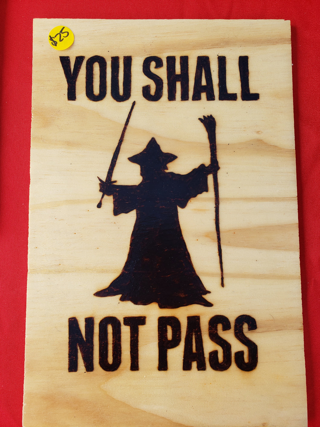 You shall not pass - Odin's Eye Art,  - woodburning, Odin's Eye Art - Odin's Eye Art