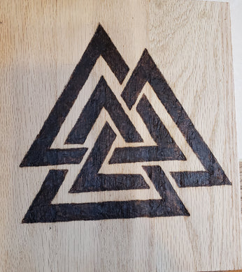 Valknut - Odin's Eye Art,  - woodburning, Odin's Eye Art - Odin's Eye Art
