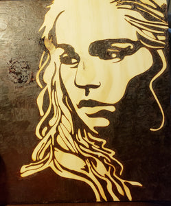 Daenerys Targaryen - Odin's Eye Art, Pyrography - woodburning, Odin's Eye Art - Odin's Eye Art