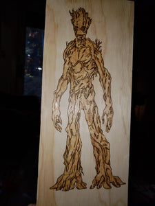 Groot - Odin's Eye Art,  - woodburning, Odin's Eye Art - Odin's Eye Art