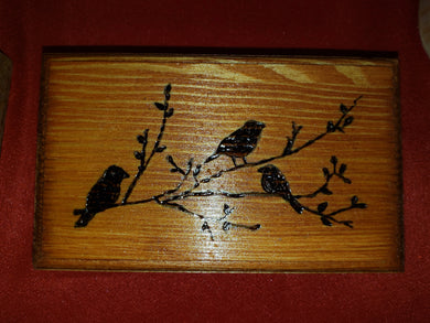 Birds box - Odin's Eye Art,  - woodburning, Odin's Eye Art - Odin's Eye Art