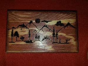 Mountain box - Odin's Eye Art,  - woodburning, Odin's Eye Art - Odin's Eye Art