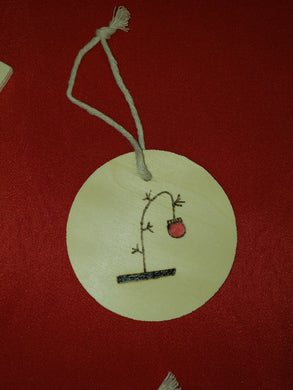 Charlie Brown tree ornament - Odin's Eye Art,  - woodburning, Odin's Eye Art - Odin's Eye Art
