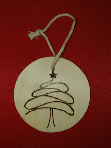 Christmas tree ornament - Odin's Eye Art,  - woodburning, Odin's Eye Art - Odin's Eye Art