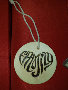Family ornament - Odin's Eye Art,  - woodburning, Odin's Eye Art - Odin's Eye Art