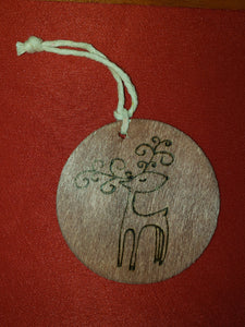 Reindeer ornament - Odin's Eye Art,  - woodburning, Odin's Eye Art - Odin's Eye Art