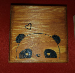 Panda box - Odin's Eye Art,  - woodburning, Odin's Eye Art - Odin's Eye Art