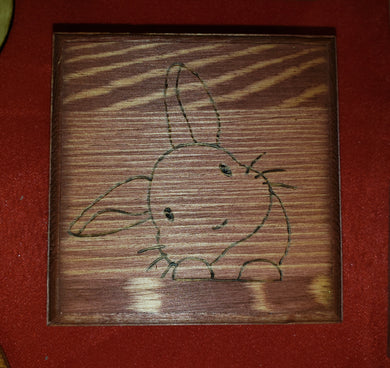 Bunny box - Odin's Eye Art,  - woodburning, Odin's Eye Art - Odin's Eye Art
