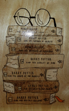 Harry Potter book collection - Odin's Eye Art,  - woodburning, Odin's Eye Art - Odin's Eye Art