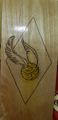 Golden Snitch - Odin's Eye Art,  - woodburning, Odin's Eye Art - Odin's Eye Art