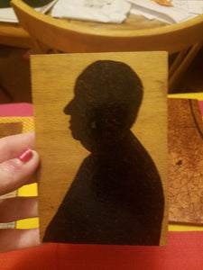 Alfred Hitchcock - Odin's Eye Art, Pyrography - woodburning, Odin's Eye Art - Odin's Eye Art