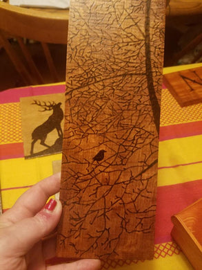 Bird among trees - Odin's Eye Art, Pyrography - woodburning, Odin's Eye Art - Odin's Eye Art