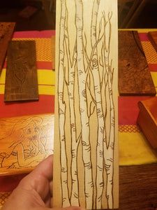 White Birch trees - Odin's Eye Art, Pyrography - woodburning, Odin's Eye Art - Odin's Eye Art