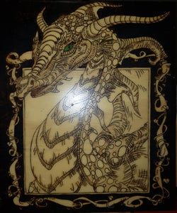 Dragon - Odin's Eye Art,  - woodburning, Odins Eye Art - Odin's Eye Art