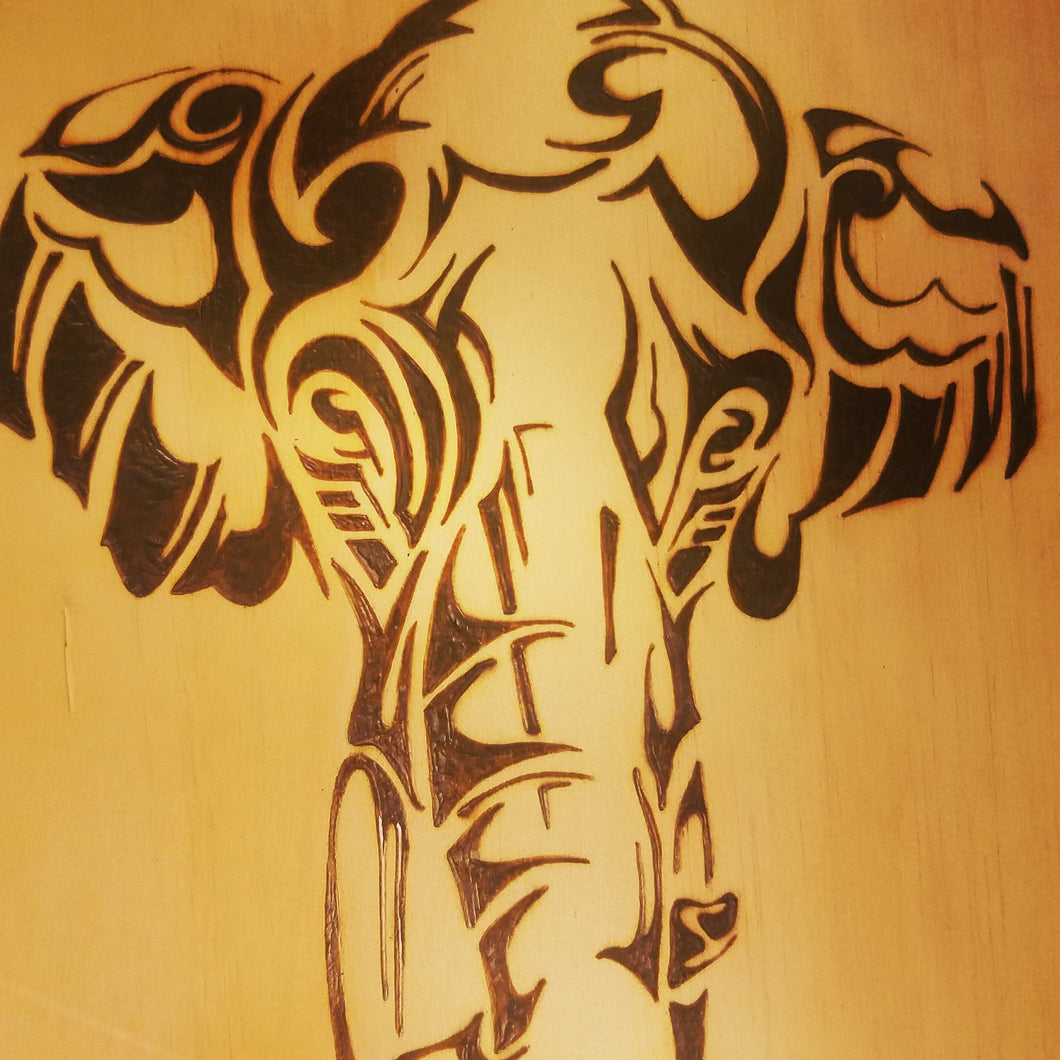 Elephant - Odin's Eye Art,  - woodburning, Odin's Eye Art - Odin's Eye Art
