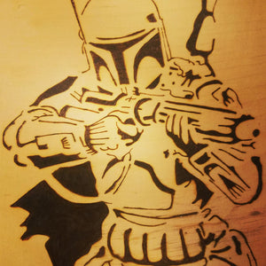 Boba Fett - Odin's Eye Art, Pyrography - woodburning, Odin's Eye Art - Odin's Eye Art