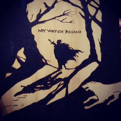 My watch begins - Odin's Eye Art,  - woodburning, Odins Eye Art - Odin's Eye Art