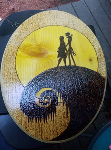 Nightmare before Christmas - Odin's Eye Art,  - woodburning, Odins Eye Art - Odin's Eye Art