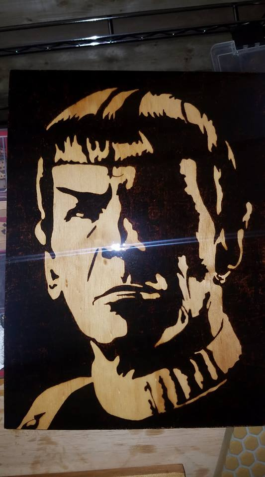 Spock - Odin's Eye Art,  - woodburning, Odin's Eye Art - Odin's Eye Art
