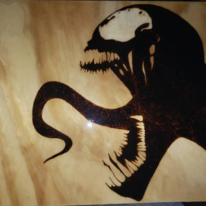 Venom - Odin's Eye Art,  - woodburning, Odins Eye Art - Odin's Eye Art