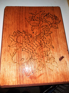 Koi fish - Odin's Eye Art, Pyrography - woodburning, Odin's Eye Art - Odin's Eye Art