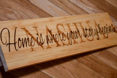 Custom sign 6 x 12 - Odin's Eye Art, Pyrography - woodburning, Odin's Eye Art - Odin's Eye Art