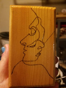 Man and Woman Box - Odin's Eye Art, Pyrography - woodburning, Odin's Eye Art - Odin's Eye Art